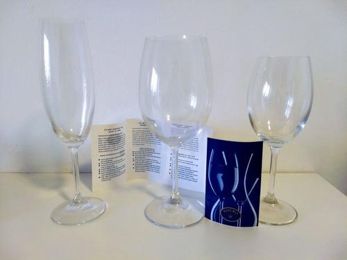 copas cristal de bohemia agua/vino x 12