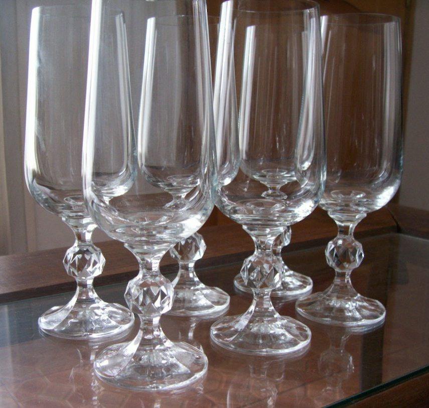 Copas cristal de bohemia checoslovakia x lote de 6 1 for Copas bohemia