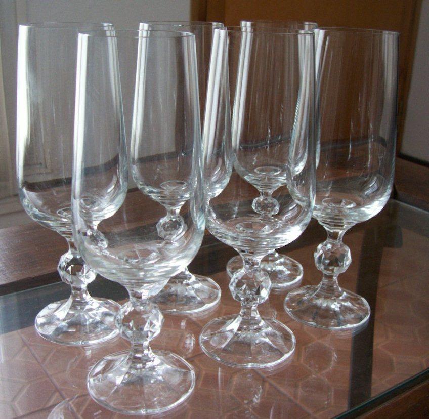 Copas cristal de bohemia checoslovakia x lote de 6 1 for Copas de cristal
