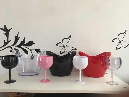copas de acrílico durables de varios colores