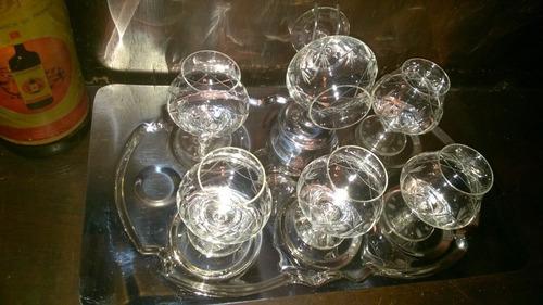 copas de coñac antiguas de cristal