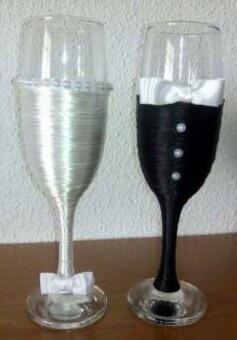 copas decoradas para bodas matrimonio bs 0 18 en mercado libre. Black Bedroom Furniture Sets. Home Design Ideas