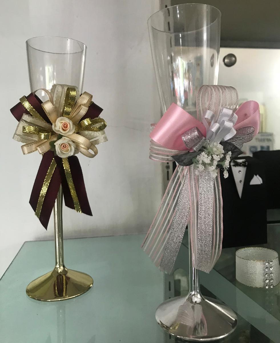 copas decoradas para bodas matrimonios bs en mercado libre. Black Bedroom Furniture Sets. Home Design Ideas