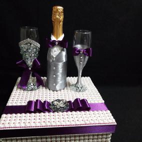 Copas Decoradas Para Bodascon Caja De Perlas Hermosas