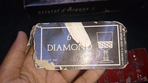 copas diamond de cristal d`arques paris