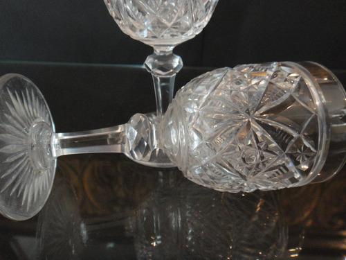 copas  jerez oporto cristal baccarat talladas a mano