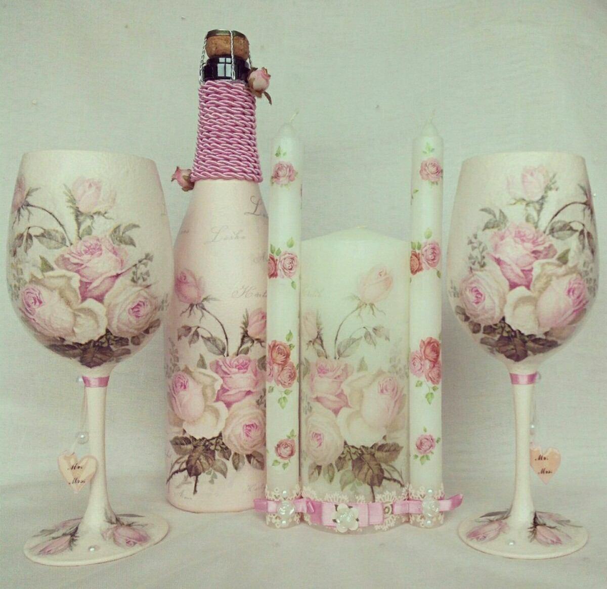 Copas para boda botella y velas myweddingglasses - Botellas con velas ...