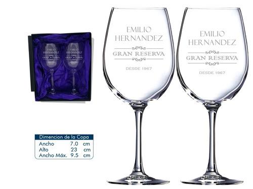 copas para cumpleaños 2 copas de vino mas caja de regalo