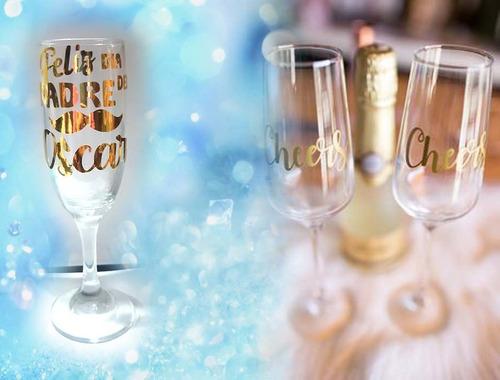 copas personalizadas de cristal - servicio de corte de vinil