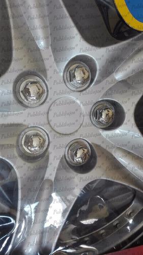 copas tapas rin 15 de lujo color gris 5 cm alt ref 80 x 4