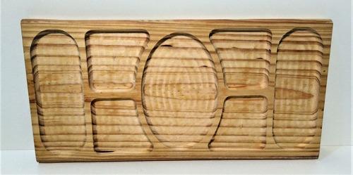 copetinero picada tabla  cuchillo madera grande kit x4