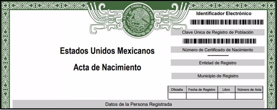 Copia Certificada Del Acta De Nacimiento - $ 550.00 en Mercado Libre