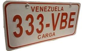 copia de placa para vehiculos en metal con relieve