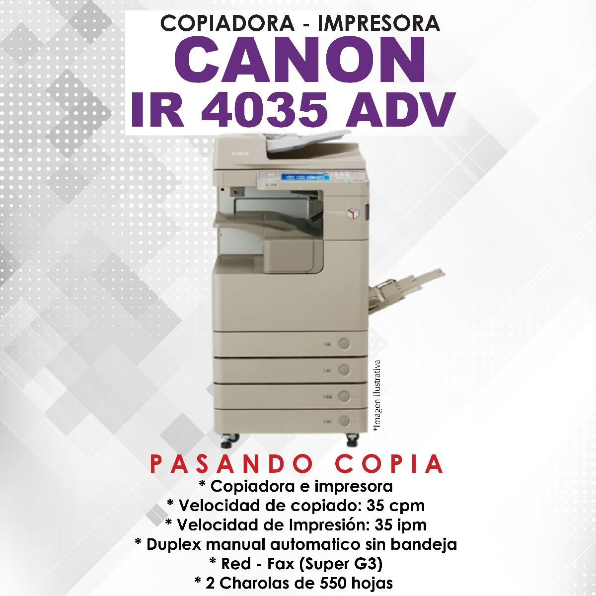 CANON IMAGERUNNER 4035 DRIVER DOWNLOAD