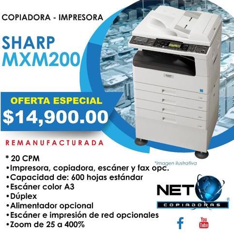 copiadora impresora sharp mxm200 remanufacturada