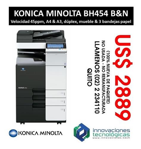 copiadora multifuncional konica súper a3 b&n 45ppm banner