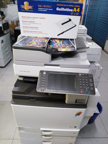 copiadora ricoh mpc 4502.full color+guillotina a4