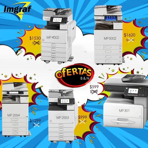 copiadoras ricoh b/n mp 301-2553-2554-4002-5002 toner