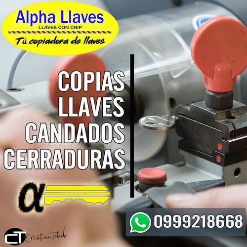 copias de llaves especiales, tarjetas de acceso, tags.
