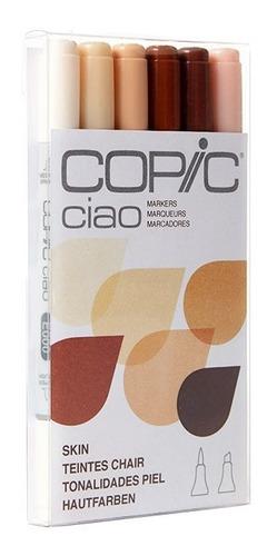 copic ciao markers set 6 piel - cromarti