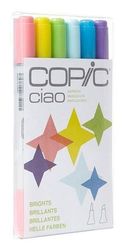 copic ciao set 6 brights - cromarti
