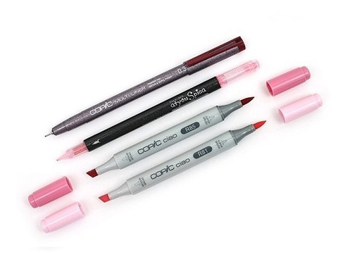 copic set 4 doodle pack pink - cromarti