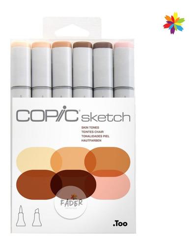 copic sketch colores piel skin set x6 marcadores rotuladores