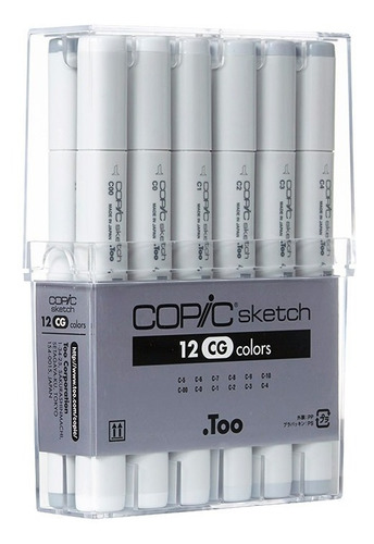 copic sketch set 12 cg cool gray - cromarti