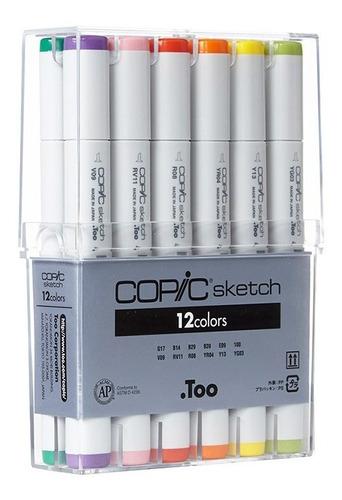 copic sketch set 12 colores - cromarti