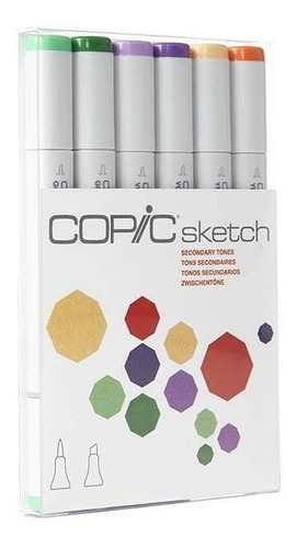 copic sketch set 6 secondary tones - cromarti