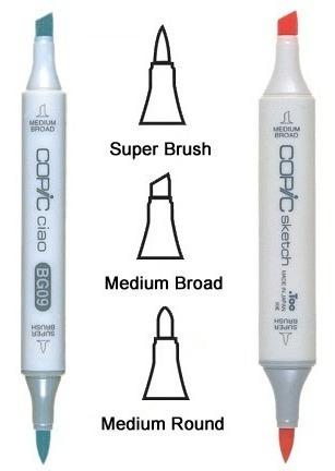 copic super brush nib punta repuesto  set 3 - cromarti