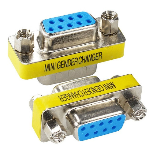 copla vga adaptador db15 hembra cambiador genero y extension