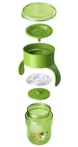 copo 360º natural grown up 260ml + 9 meses - philips avent
