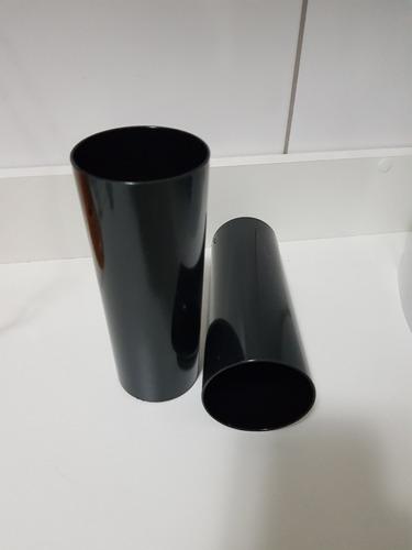 copo acrílico long drink 350ml preto 6 unidades