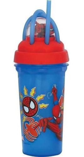 copo canudo homem aranha 340 ml