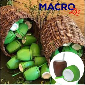 Copo Coco Moana 25 Verde+ 25 Marrom