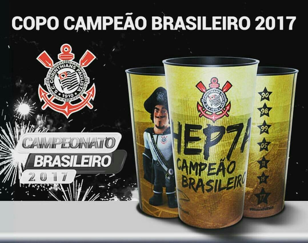 Copo Corinthians Hepta Campeão Brasileiro 2017 - R  23 3df548828b6d1