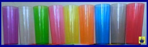 copo de acrílico não descartável long drink 350ml kit 400 pç