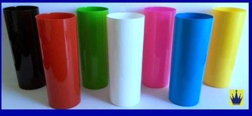 copo de acrílico não descartável long drink 350ml kit 500 pç