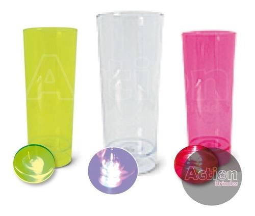 copo de led long drink 350ml - kit 20 unidades_frete grátis
