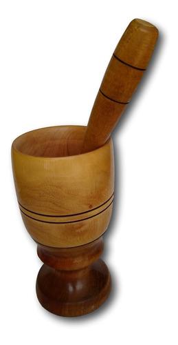copo de madeira com amassador para caipirinha ref: 9263