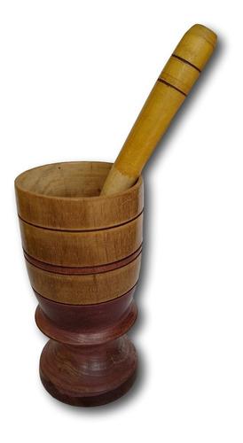 copo de madeira com amassador para caipirinha ref: 9796