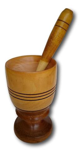 copo de madeira com amassador para caipirinha ref: 9797