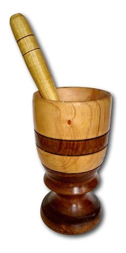 copo de madeira com amassador para caipirinha  ref: 9878