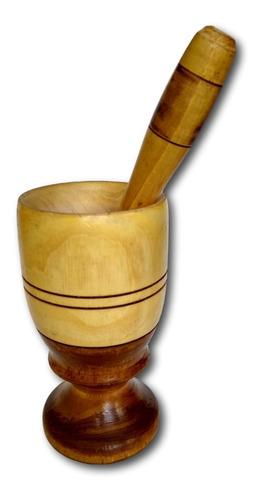 copo de madeira com amassador para caipirinha  ref: 9879