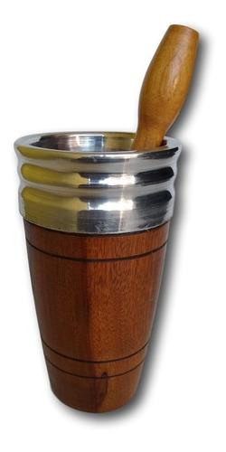 copo de  madeira para caipirinha   ref: 9159