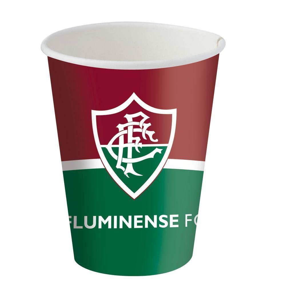 Copo De Papel 200ml - Fluminense - 08 Unidades - R  33 9032a03c1b336