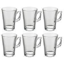 copo de vidro para cafe italiano 150 ml nespresso kit 6 pc