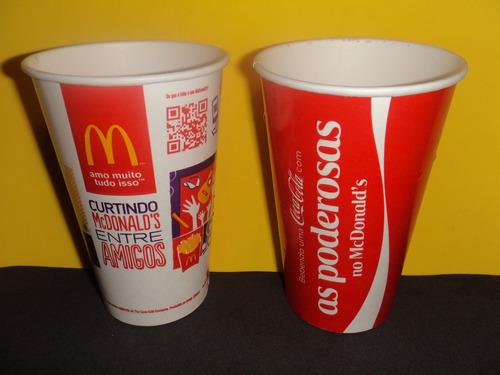 copo descartavel coca-cola mcdonald´s - as poderosas