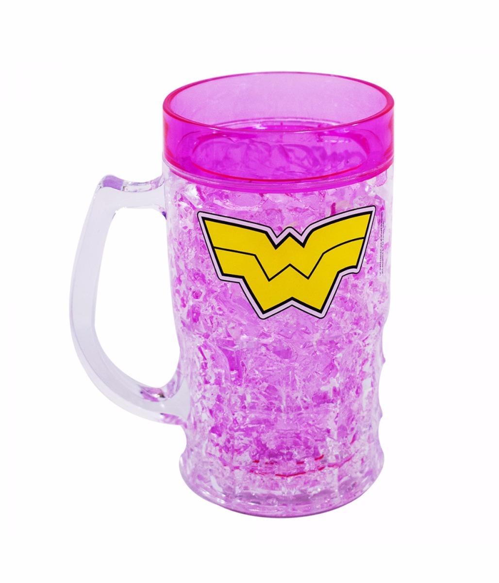 0d1738d22 copo gelo mulher maravilha 400ml caneca congelante chopp. Carregando zoom.